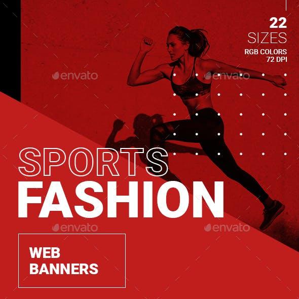 Sports Fashion Web Banners