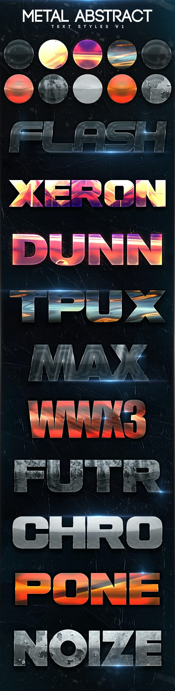 Metal Abstract Text Styles V1 - Text Effects Styles