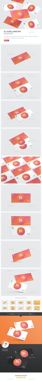 Lanscape Dl Flyer Mockup - Print Product Mock-Ups