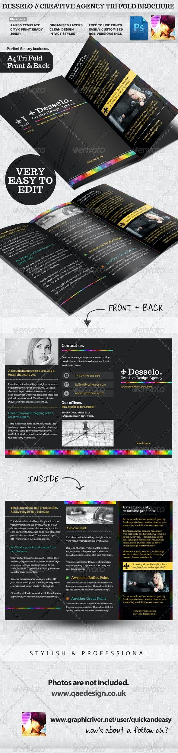 Desselo - Creative Tri-fold Brochure Template - Corporate Brochures