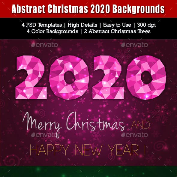 Abstract Christmas 2020 Backgrounds