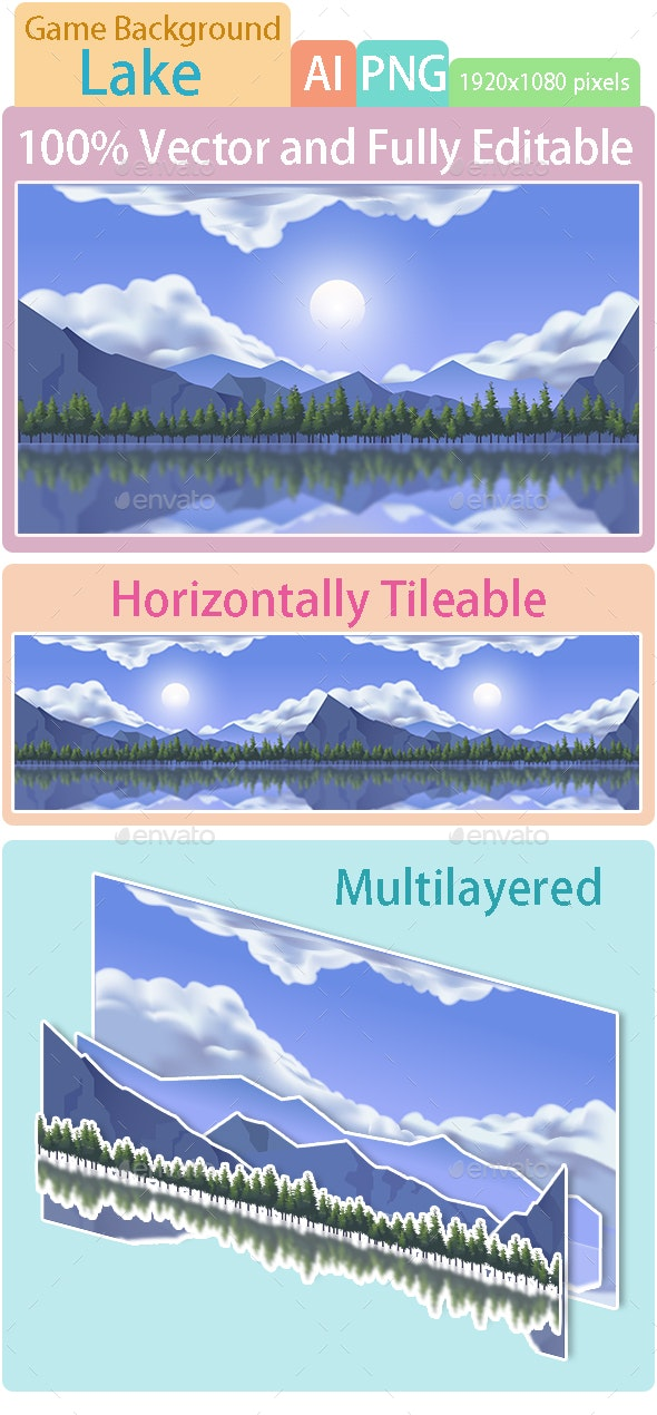 Game Background Lake - Backgrounds Game Assets