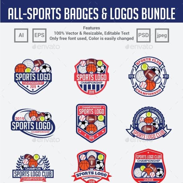 120 Sports Badges & Logos Bundle
