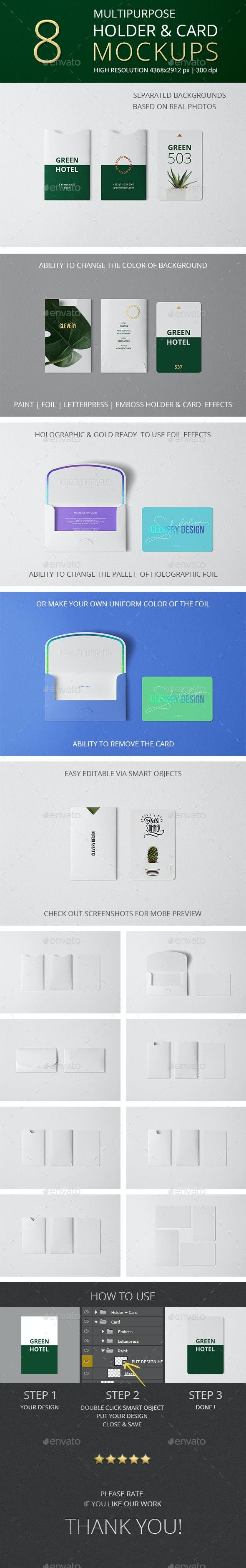 Multipurpose Holder & Card Mockup Vol 9.0 - Miscellaneous Print