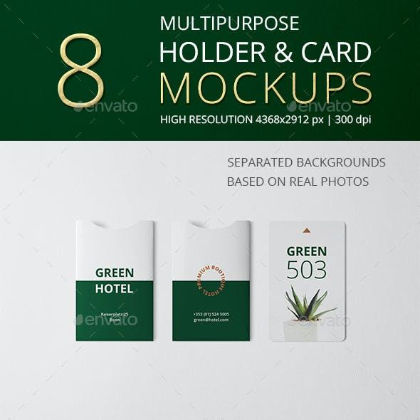 Multipurpose Holder & Card Mockup Vol 9.0