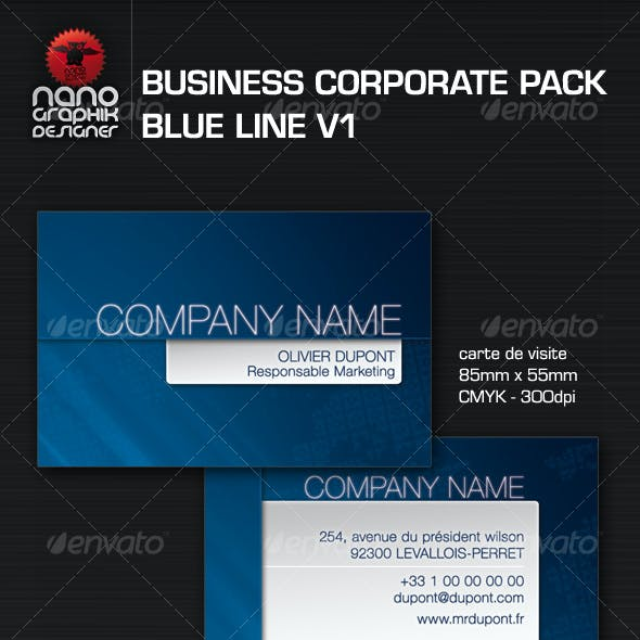 business corporate pack blue line v1