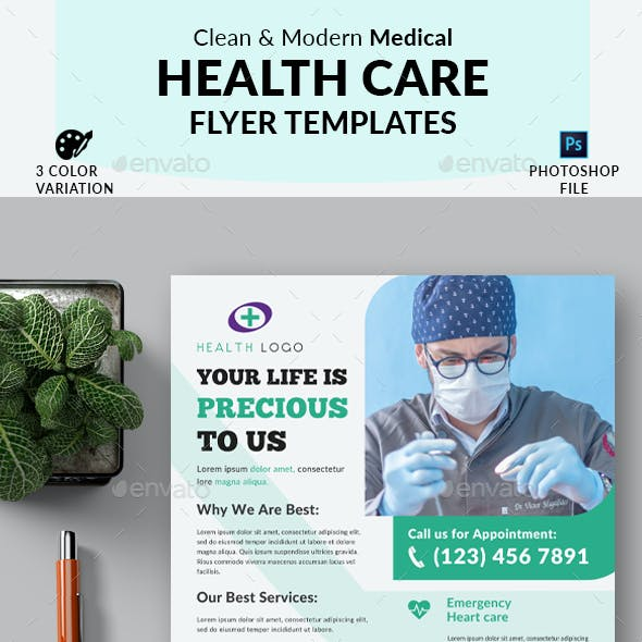 Medical Health Care Marketing Flyer Template