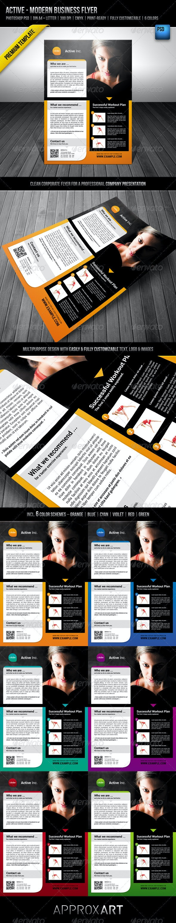 Active - Modern Business Flyer - Corporate Flyers