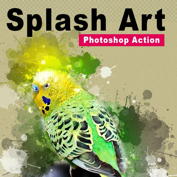 Splash Art Photoshop Action