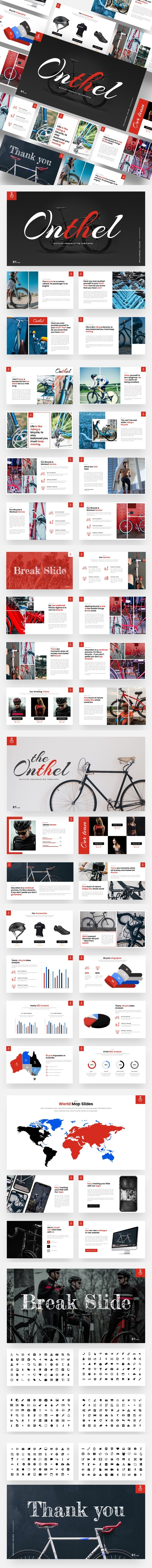 Onthel - Bicycle Powerpoint Template - Miscellaneous PowerPoint Templates