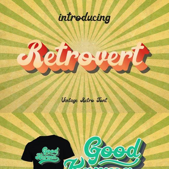 Retrovert - Retro Script Vintage Font