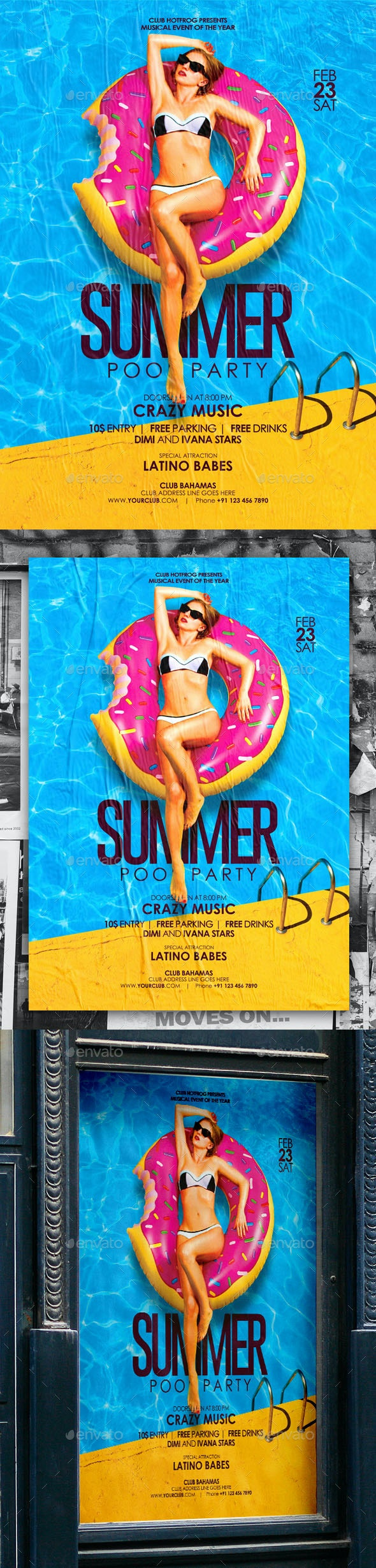 Summer Pool Party Flyer - Events Flyers