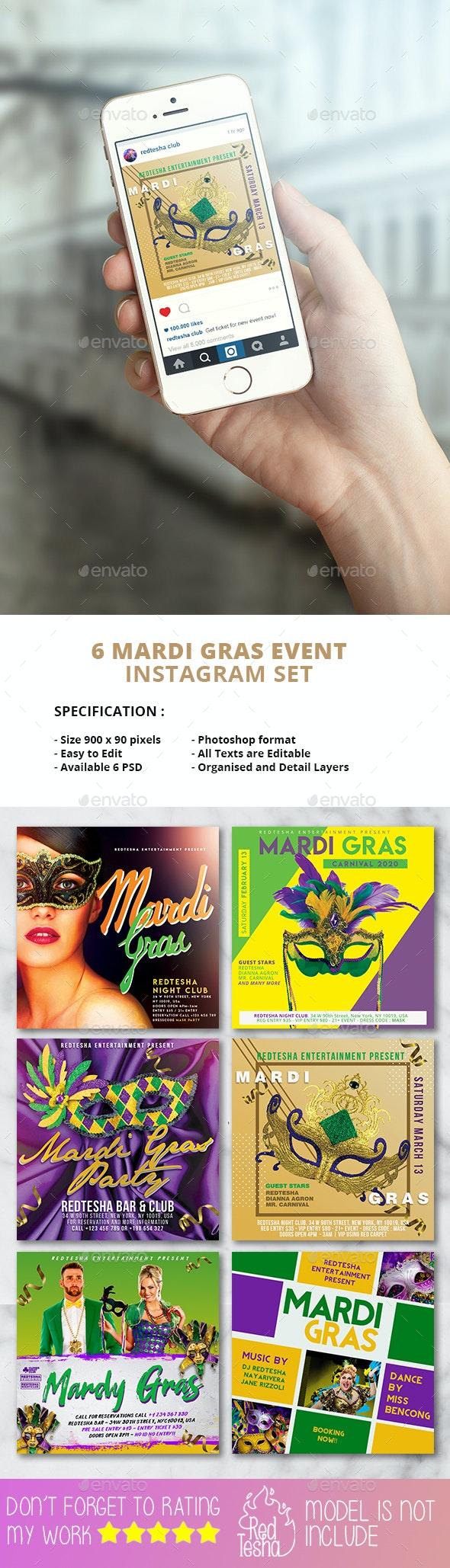 Mardi Gras Instagram - Social Media Web Elements