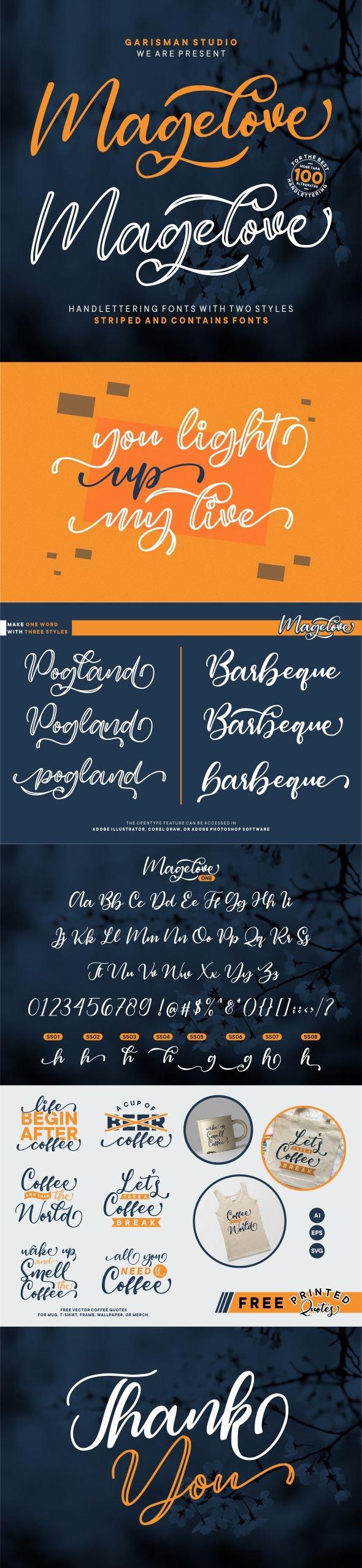 Magelove - Calligraphy Script
