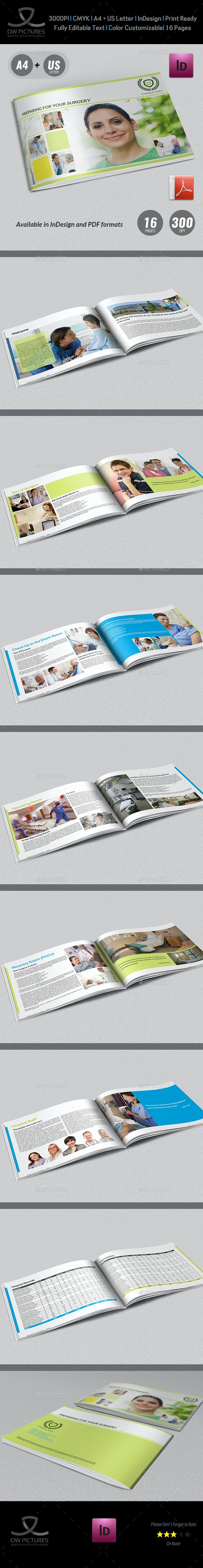 Preparing for Surgery Brochure Template - 16 Pages - Informational Brochures