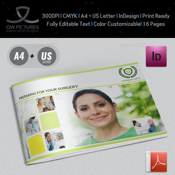 Preparing for Surgery Brochure Template - 16 Pages