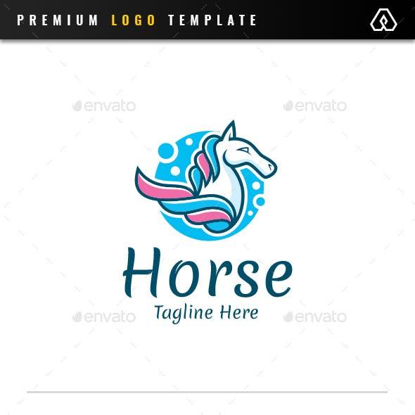 Colorful Sky Horse Logo
