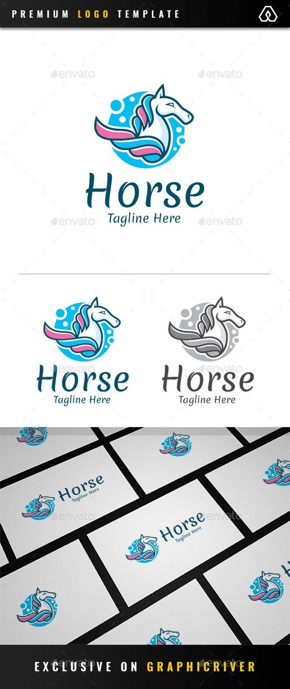 Colorful Sky Horse Logo - Animals Logo Templates