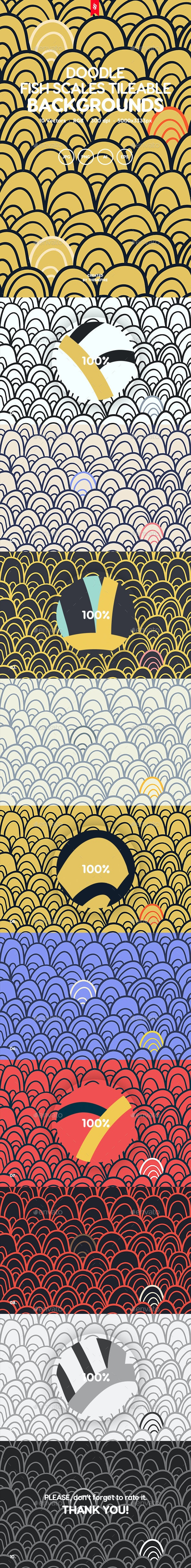 Hand Drawn Doodle Seamless Patterns - Patterns Backgrounds
