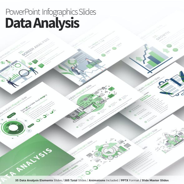 Data Analysis - PowerPoint Infographics Slides