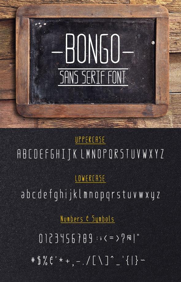 Bongo Regular - Condensed Sans-Serif