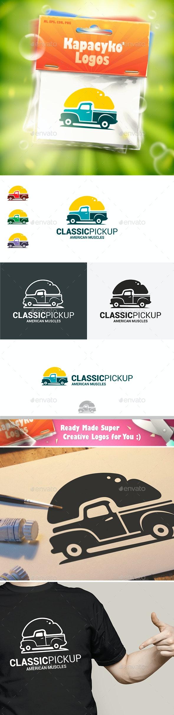 Classic Pickup Logo - Objects Logo Templates