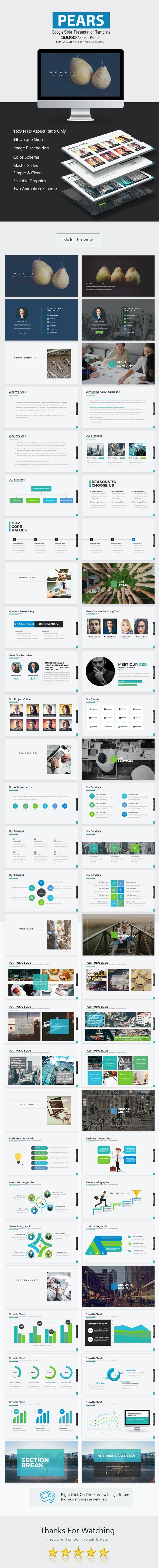 Pears Google Slide Presentation Template - Business PowerPoint Templates