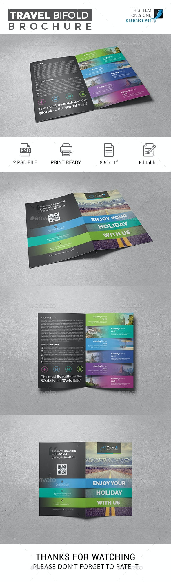 Travel Bifold Brochure - Corporate Brochures