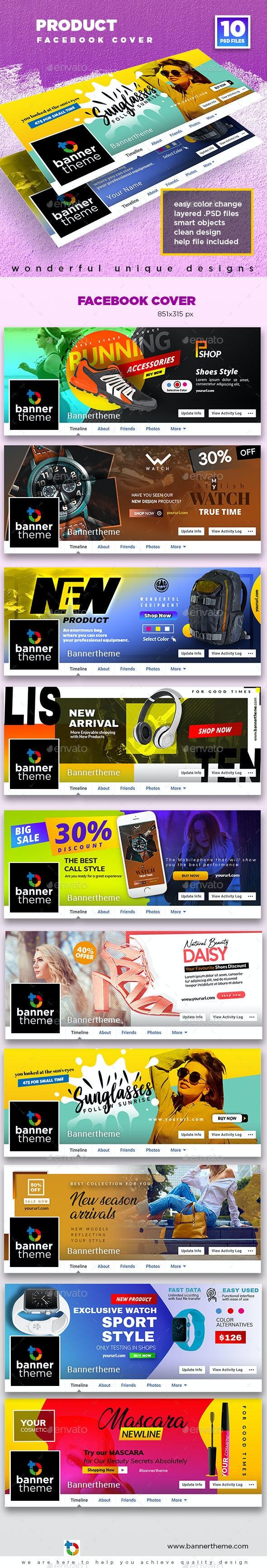 Product Facebook Cover - Social Media Web Elements