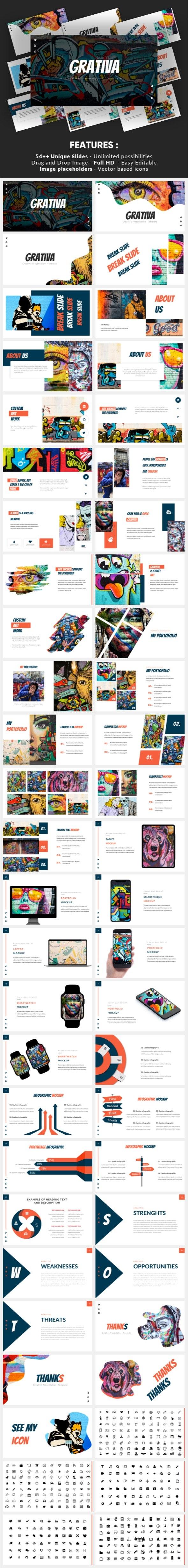 Grativa - Creative Powerpoint Template - Creative PowerPoint Templates