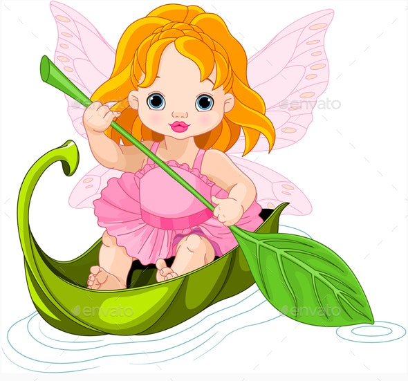 Fairy Floats on a Boat - Characters Vectors