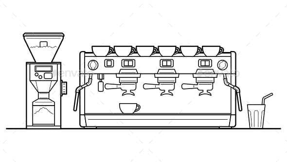 Espresso Machine set - Man-made Objects Objects