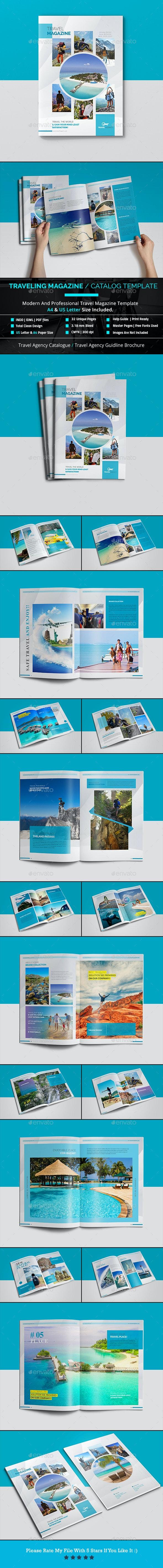 Traveling Magazine / Catalog Template - Magazines Print Templates