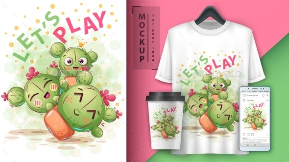 Cactus - Mockup for Your Idea - Animals Characters