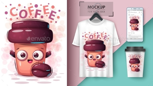 Coffee Drink - Mockup for Your Idea - Food Objects