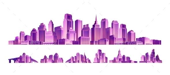Set of Modern Buildings - Buildings Objects