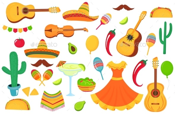 Mexican Musical Instruments, Local Food, Clothing - Miscellaneous Seasons/Holidays