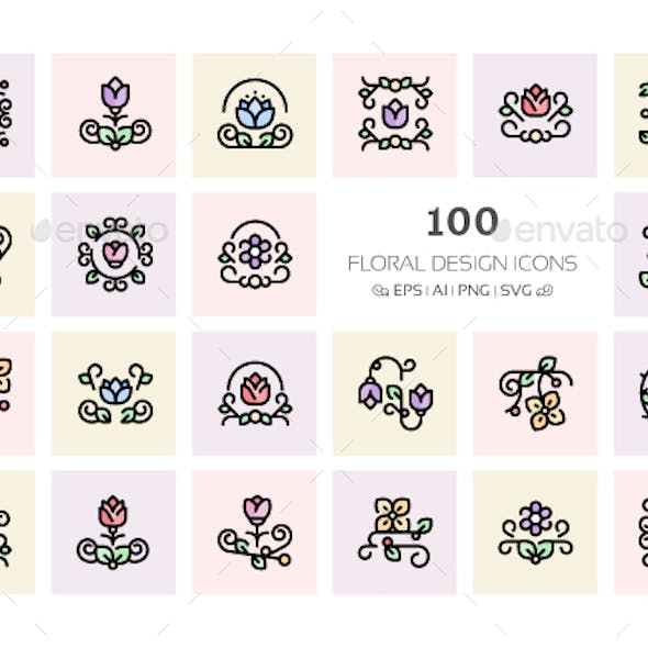100 Floral Design Icons