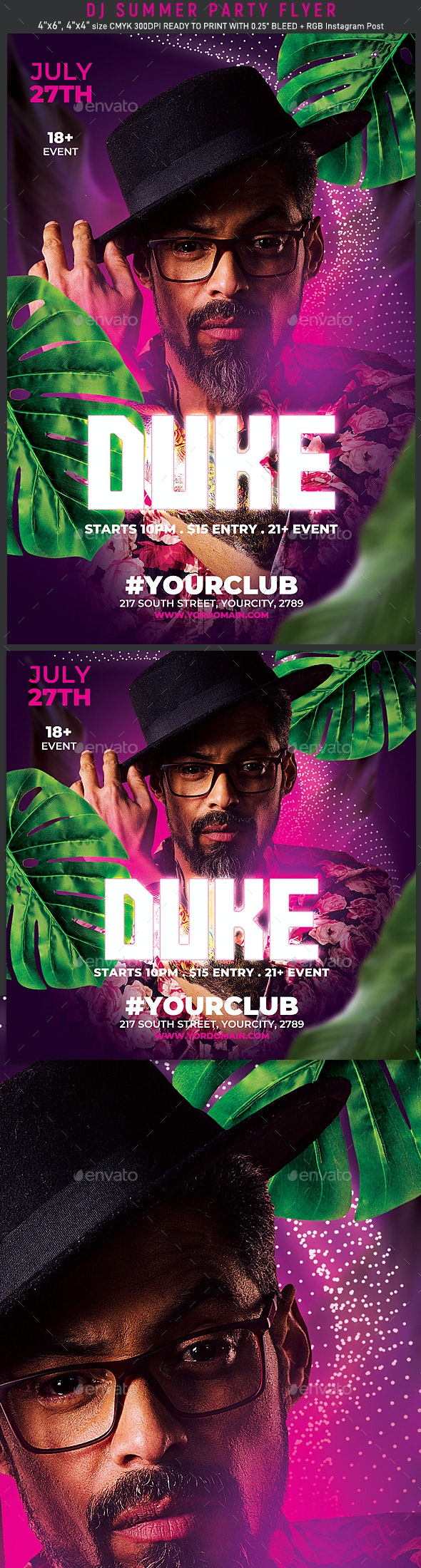 Summer Dj Flyer Template - Events Flyers