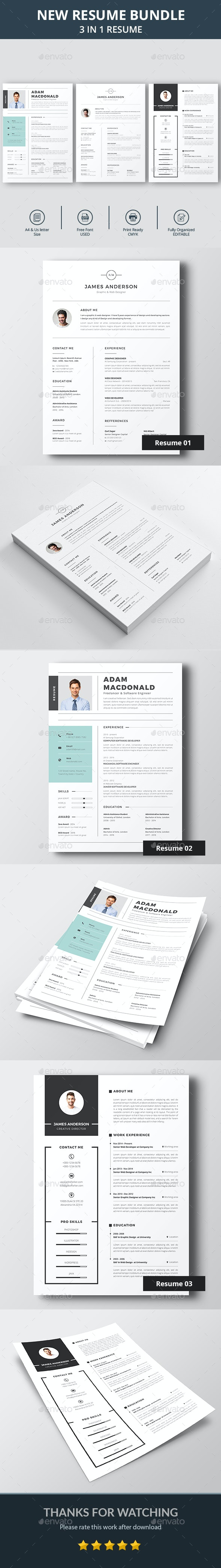 Resume & Cover Letter Bundle - Resumes Stationery