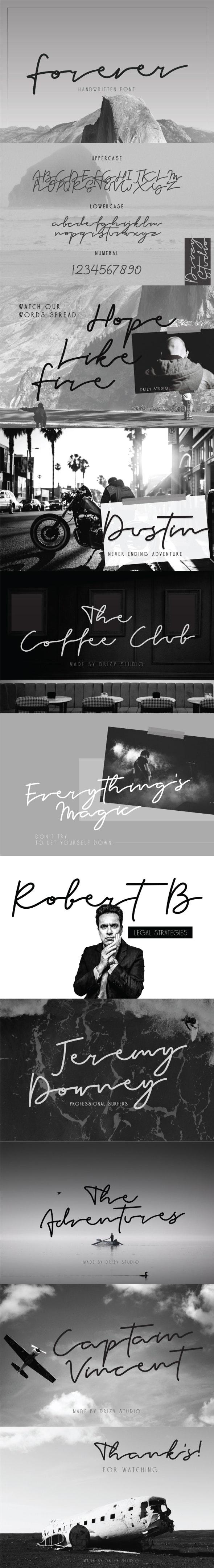 Forever Handwritten Typeface - Hand-writing Script