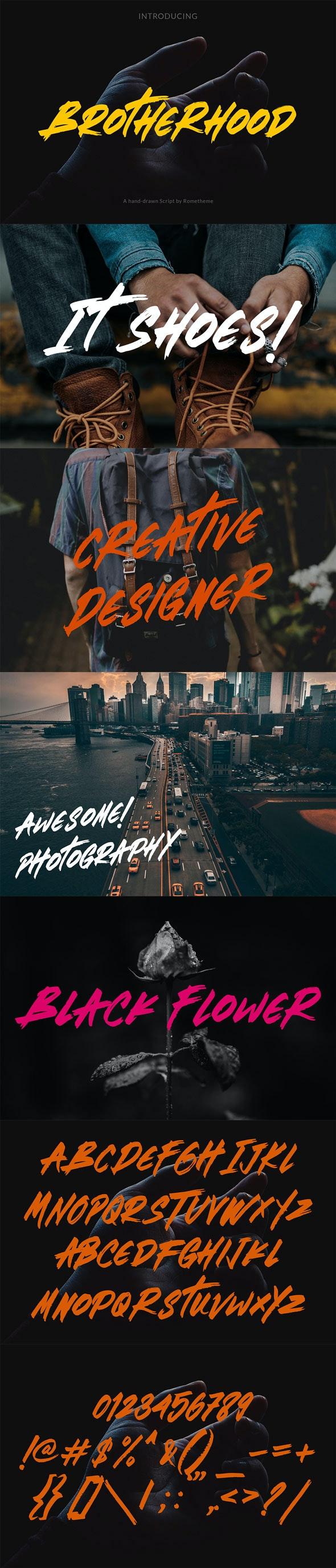 Brotherhood – Brush Script Font - Cool Fonts