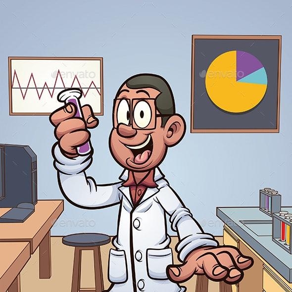 Cartoon Scientist - People Characters