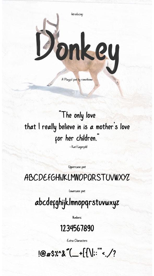 Donkey Font - Comic Decorative