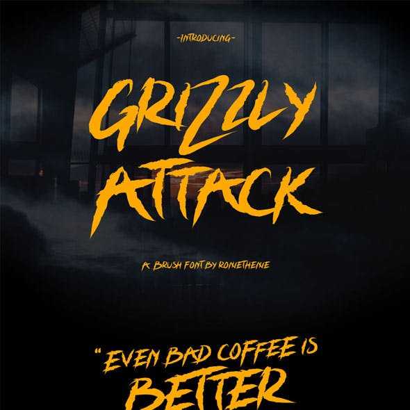 Grizzly Attack – Brush Font