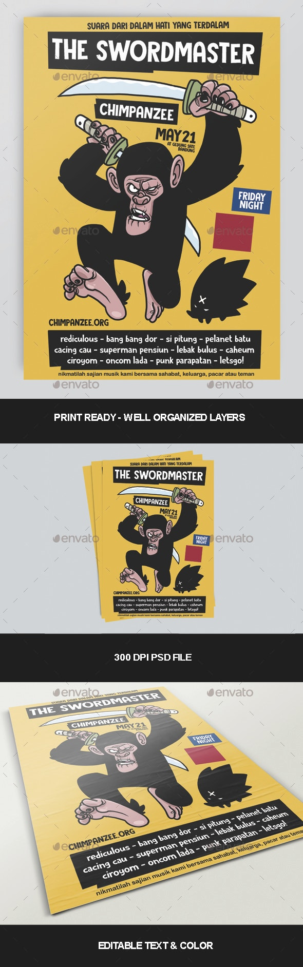 The Swordmaster Poster - Clubs & Parties Events