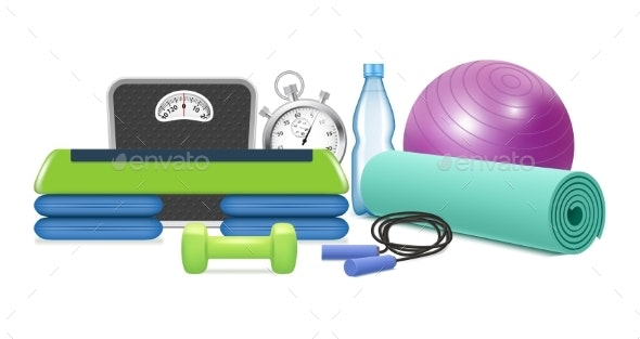 Yoga and Fitness Equipment - Sports/Activity Conceptual