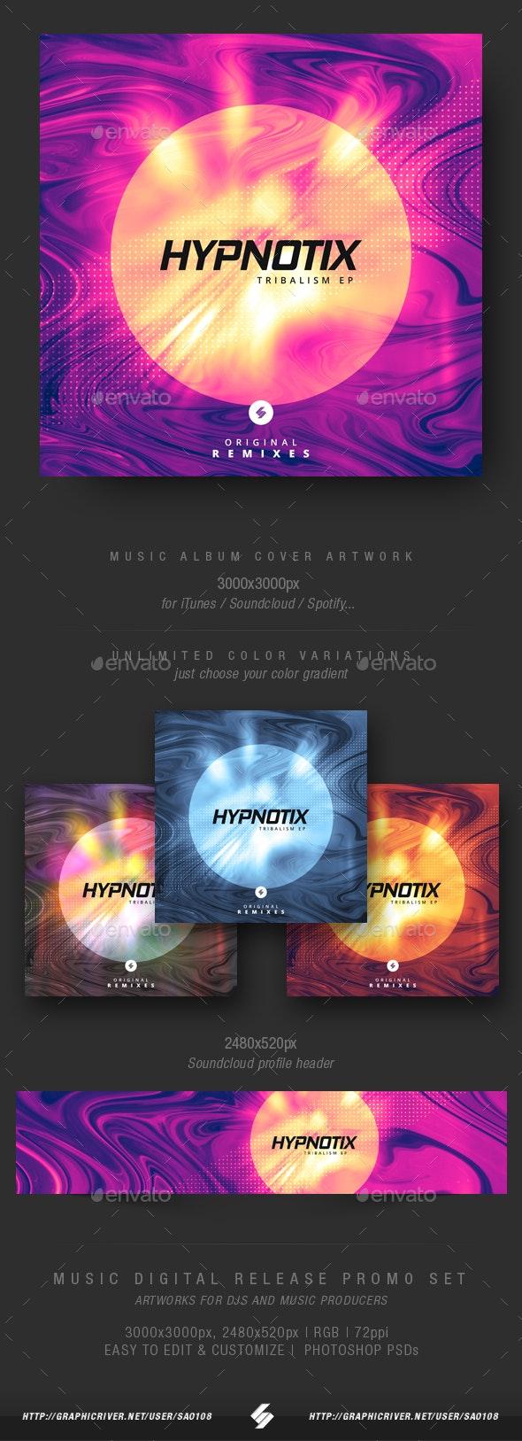 Hypnotix - Electronic Music Album Cover Template - Miscellaneous Social Media