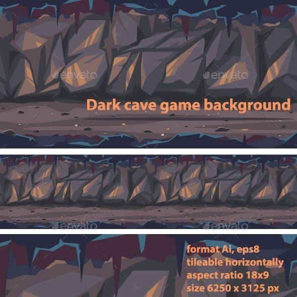 Dark Terrible Cave Background