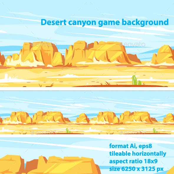 Desert Canyon Landscape Background